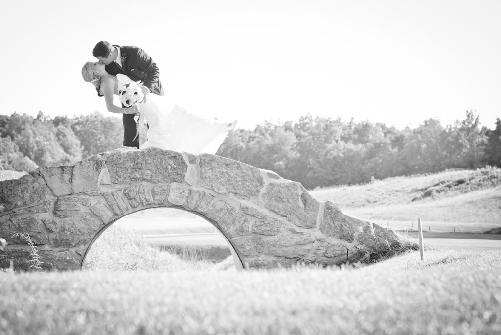 Kissing On The Bridge, Weddings At Wooden Sticks Golf Club