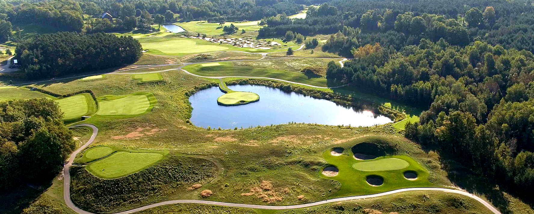 Wooden Stick golf course viewed from overhead