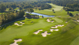 Wooden Sticks Golf course from above