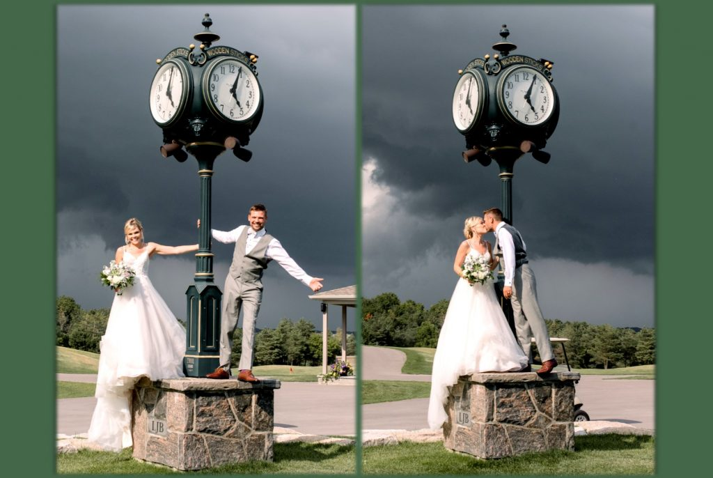Wooden Sticks Weddings, Weddings Photos, Golf Club Weddings, Wooden Sticks Clock Photo