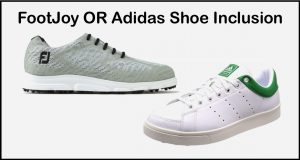Wooden Sticks Golf Club, FootJoy Shoe Inclusion, Adidas Shoe Inclusion, Final Golf Value Days