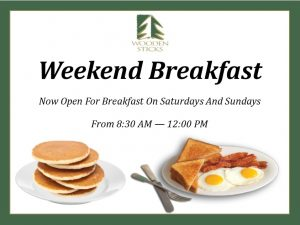 Wooden Sticks Golf Club, Open For Breakfast, Weekend Breakfast, Uxbridge Breakfast Resorts, Public Dining Uxbridge, Breakfast Restaurants