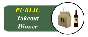 Wooden Sticks Golf Club, Public Takeout Dinner Menu, Takeout Dinner, Uxbridge Takeout