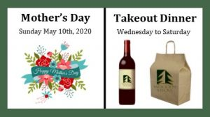 Wooden Sticks Golf Club, Takeout Dining Events, Mother's Day Takeout, Weekly Takeout Dinner Menu