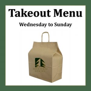 Wooden Sticks Golf Club, Takeout Dinner Menu, Uxbridge Takeout Dinner, Durham Region Takeout, GTA Takeout Menu, Golf Course Takeout Menu,