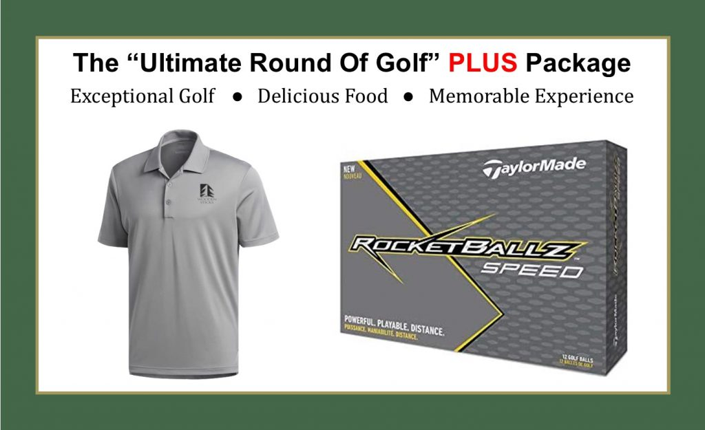 Wooden Sticks Golf Club, The Ultimate Round Of Golf, Ultimate PLUS Golf Package, TaylorMade Rocketballz Golf Balls, Adidas Golf Shirt, Uxbridge Golf Package, Christmas Golf Packages, Birthday Golf Packages, Golf Gift Packages,