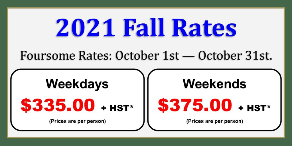Wooden Sticks Golf Club, Stay & Play Packages, 2021 Fall Cabin Rates,